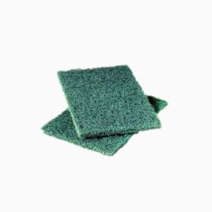 tampon vert de nettoyage et de récurage multi-usages en fibres synthétiques