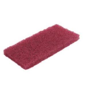 Pad tampon abrasif rouge