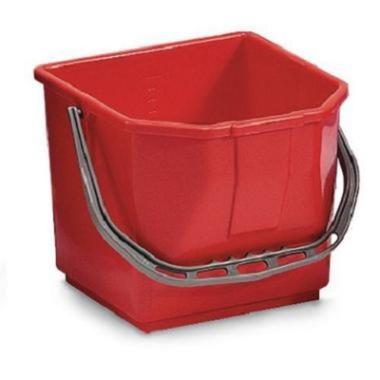 Seau pour chariot 15L rouge