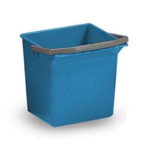 Seau pour chariot 6L bleu