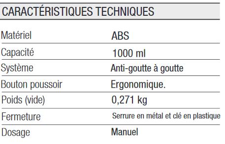 Distributeur de Savon liquide 1L ABS Fumé