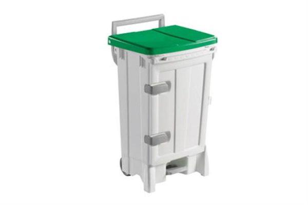 poubelles a pedale et couvercle colore pb 1501