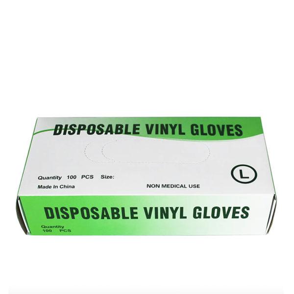 Gants Vinyl Non Poudré L Transparent boite 100