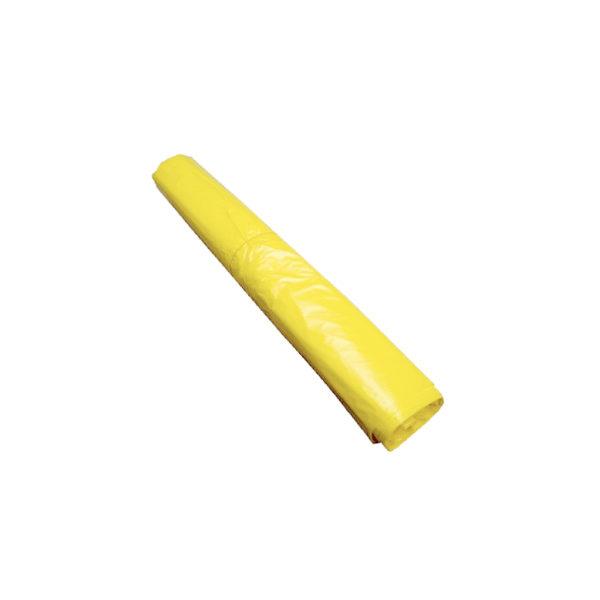 Sac 70x110cm jaune HDPE 25