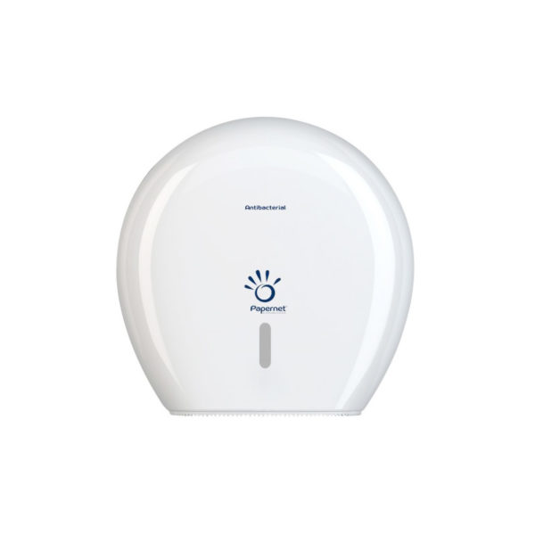 Distributeur papier WC Maxi Jumbo Blanc Antibacterien